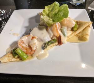 Scallop & Shrimp Crepe